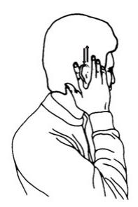 """17. Масаж на ушите с ръце -""""ножица"""""""