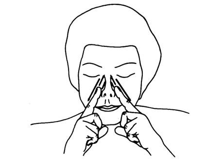 Масажирайте носа